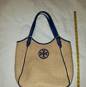 Tory Burch Woven Georgeous Slouchy tote purse